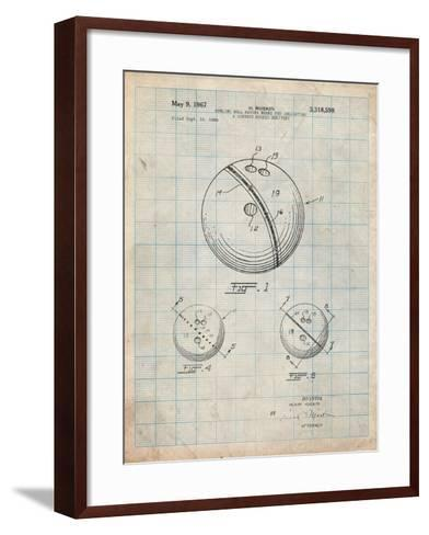 Bowling Ball 1991 Patent-Cole Borders-Framed Art Print