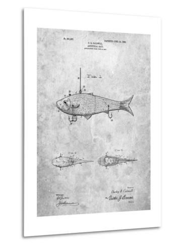 Fishing Artificial Bait-Cole Borders-Metal Print
