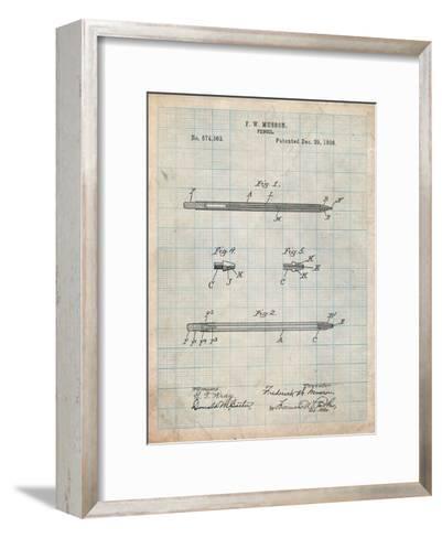 Pencil Patent-Cole Borders-Framed Art Print