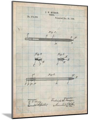 Pencil Patent-Cole Borders-Mounted Art Print