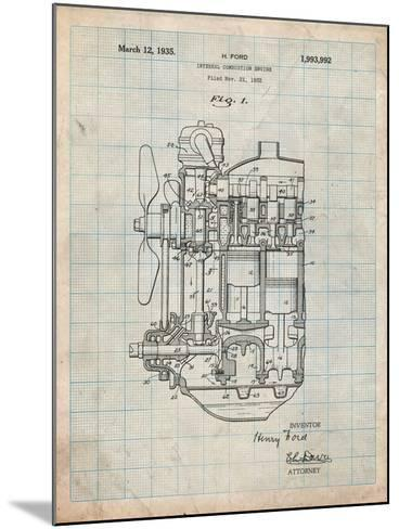 Ford Internal Combustion Engine Patent-Cole Borders-Mounted Art Print