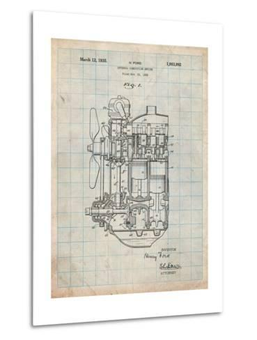 Ford Internal Combustion Engine Patent-Cole Borders-Metal Print
