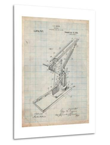 Catapult Patent 1921-Cole Borders-Metal Print