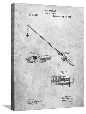 Fishing Rod and Reel 1884 Patent-Cole Borders-Stretched Canvas Print