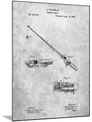 Fishing Rod and Reel 1884 Patent-Cole Borders-Mounted Art Print