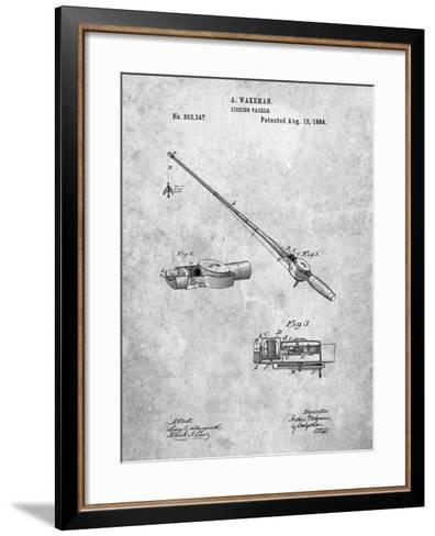 Fishing Rod and Reel 1884 Patent-Cole Borders-Framed Art Print