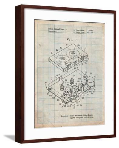 Toshiba Cassette Tape Recorder Patent-Cole Borders-Framed Art Print