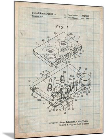 Toshiba Cassette Tape Recorder Patent-Cole Borders-Mounted Art Print