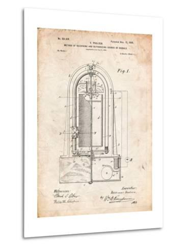 Recording Device Patent 1900-Cole Borders-Metal Print