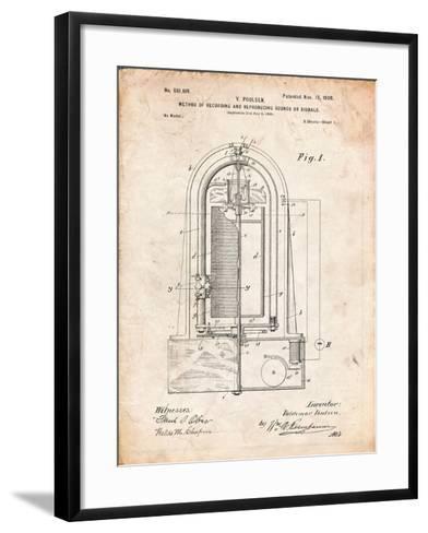 Recording Device Patent 1900-Cole Borders-Framed Art Print