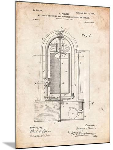 Recording Device Patent 1900-Cole Borders-Mounted Art Print