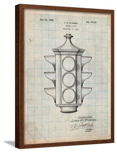 Traffic Light 1923 Patent-Cole Borders-Framed Art Print