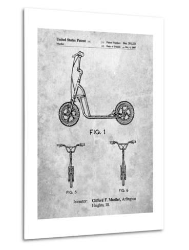 Scooter Patent Art-Cole Borders-Metal Print