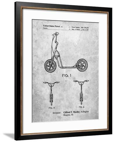 Scooter Patent Art-Cole Borders-Framed Art Print