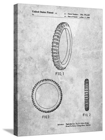 Mountain Bike Tire Patent-Cole Borders-Stretched Canvas Print