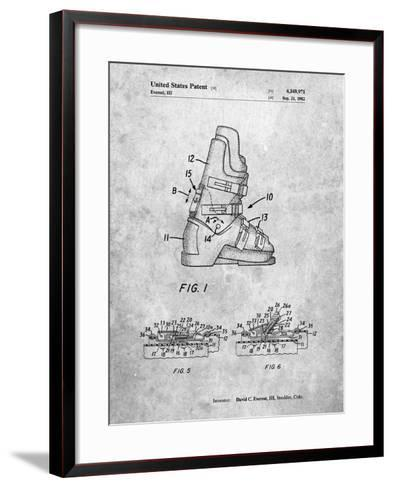 Ski Boots Patent-Cole Borders-Framed Art Print