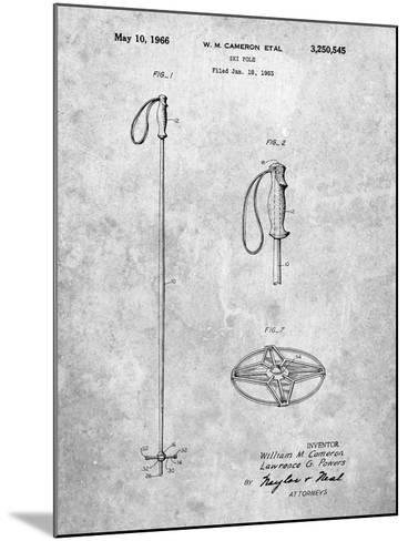 Ski Pole Patent-Cole Borders-Mounted Art Print