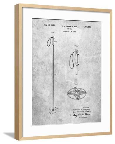Ski Pole Patent-Cole Borders-Framed Art Print
