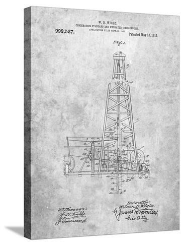 Hydraulic Drilling Rig Patent-Cole Borders-Stretched Canvas Print