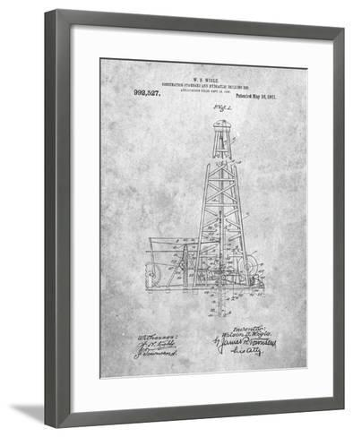 Hydraulic Drilling Rig Patent-Cole Borders-Framed Art Print