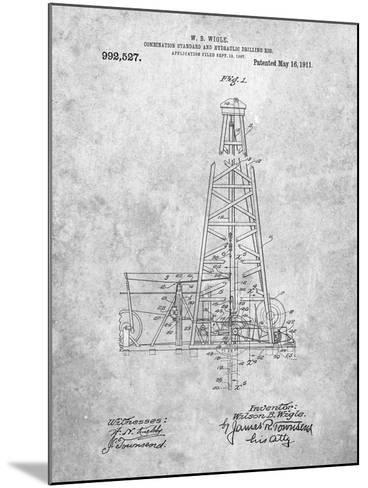 Hydraulic Drilling Rig Patent-Cole Borders-Mounted Art Print