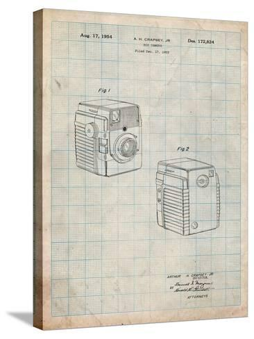 Kodak Brownie Bullseye 1954 Patent-Cole Borders-Stretched Canvas Print