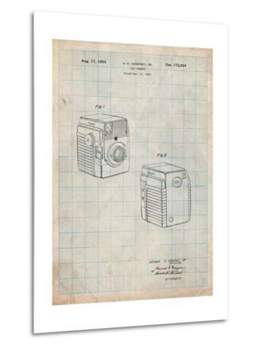 Kodak Brownie Bullseye 1954 Patent-Cole Borders-Metal Print