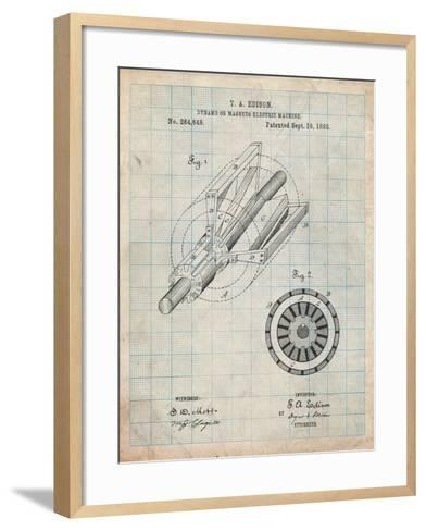 Edison Dynamo Electrical Generator Patent Print-Cole Borders-Framed Art Print