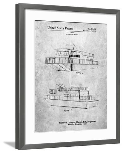 Houseboat Patent-Cole Borders-Framed Art Print