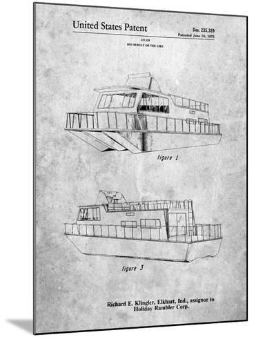 Houseboat Patent-Cole Borders-Mounted Art Print