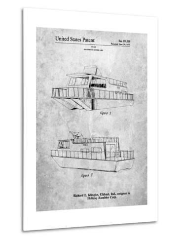 Houseboat Patent-Cole Borders-Metal Print