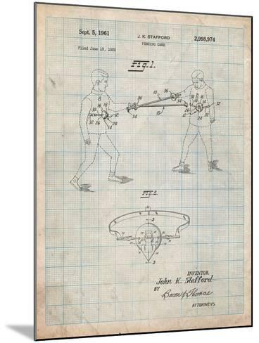 Fencing Game Patent-Cole Borders-Mounted Art Print