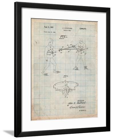 Fencing Game Patent-Cole Borders-Framed Art Print