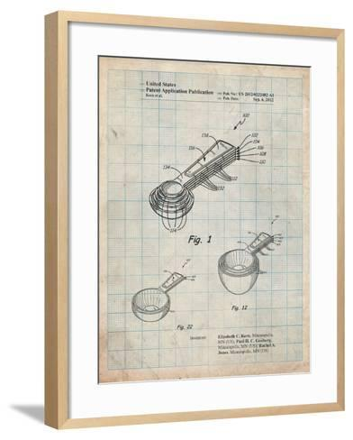 Stacking Measuring Cups Patent-Cole Borders-Framed Art Print