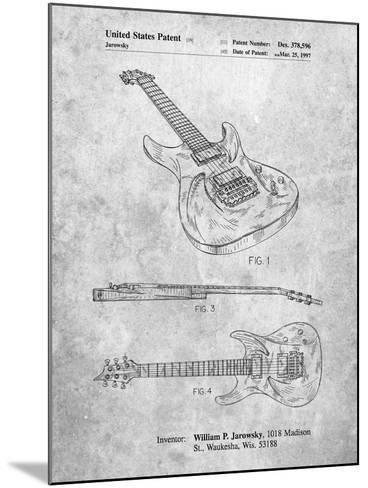 Ibanez Pro 540Rbb Electric Guitar Patent-Cole Borders-Mounted Art Print