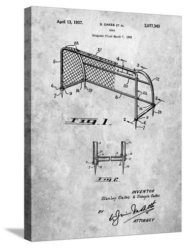 Soccer Goal Patent Art-Cole Borders-Stretched Canvas Print