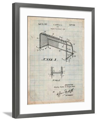 Soccer Goal Patent Art-Cole Borders-Framed Art Print