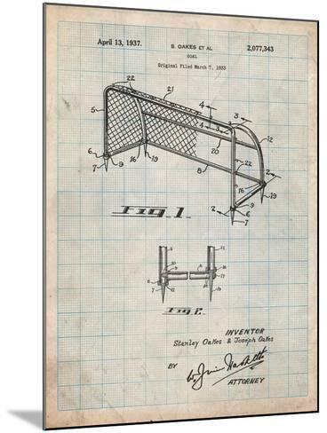 Soccer Goal Patent Art-Cole Borders-Mounted Art Print