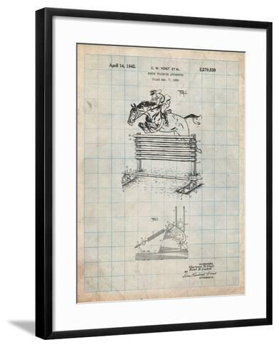 Equestrian Training Oxer Patent-Cole Borders-Framed Art Print
