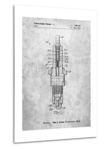 Spark Plug Patent-Cole Borders-Metal Print