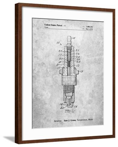 Spark Plug Patent-Cole Borders-Framed Art Print