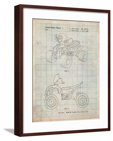 Kids 4-Wheeler-Cole Borders-Framed Art Print