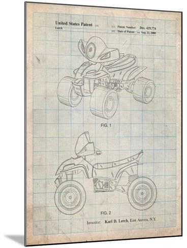 Kids 4-Wheeler-Cole Borders-Mounted Art Print