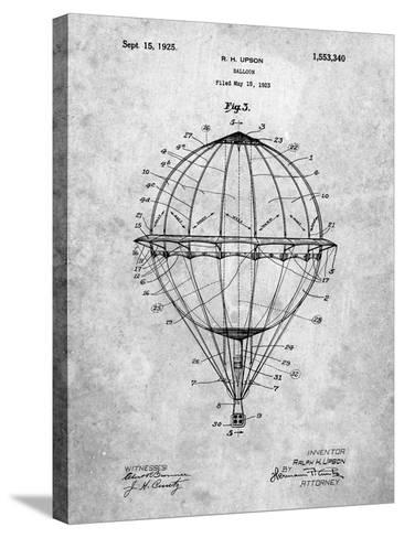 Hot Air Balloon 1923 Patent-Cole Borders-Stretched Canvas Print