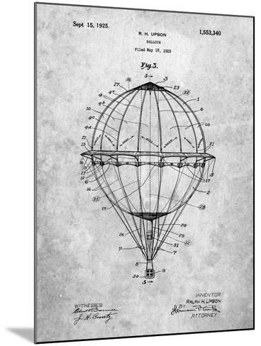 Hot Air Balloon 1923 Patent-Cole Borders-Mounted Art Print