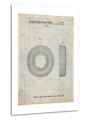 Kodak Carousel Patent-Cole Borders-Metal Print