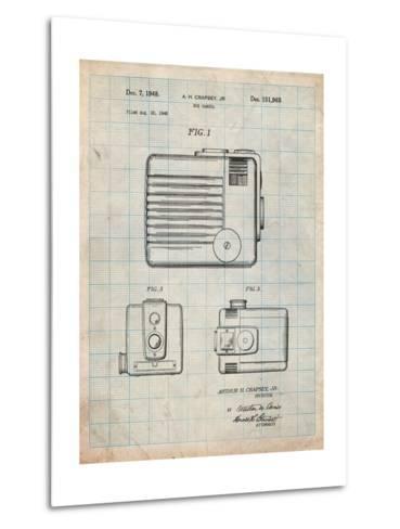 Kodak Brownie Hawkeye Patent-Cole Borders-Metal Print