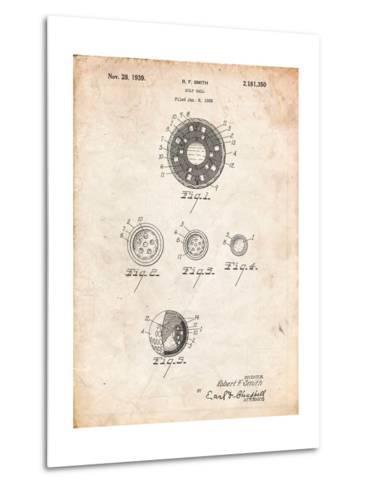 Golf Ball Patent-Cole Borders-Metal Print