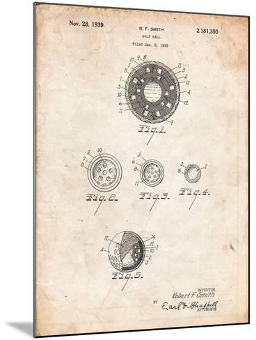 Golf Ball Patent-Cole Borders-Mounted Art Print