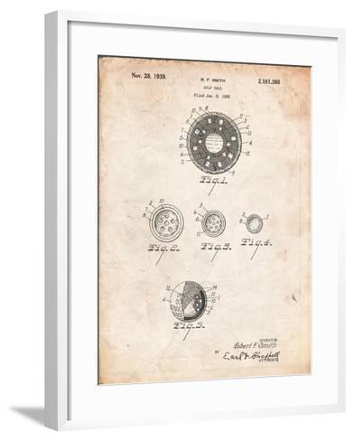 Golf Ball Patent-Cole Borders-Framed Art Print